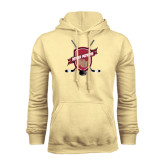 Champion Vegas Gold Fleece Hood-Denver Pioneers Hockey Emblem w/Sticks