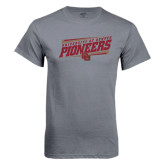 Charcoal T Shirt-University of Denver Pioneers Slanted w/ Logo