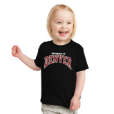 Toddler Black T Shirt-University of Denver