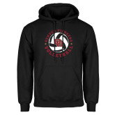 Black Fleece Hoodie-DU Volleyball