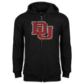 Black Fleece Full Zip Hoodie-DU