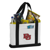 Contender White/Black Canvas Tote-DU