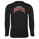 Performance Black Longsleeve Shirt-University of Denver
