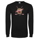 Black Long Sleeve T Shirt-Hockey