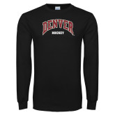 Black Long Sleeve T Shirt-Denver Hockey
