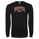 Black Long Sleeve T Shirt-Denver Rugby