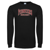 Black Long Sleeve T Shirt-JR Pioneers Hockey
