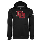 Under Armour Black Performance Sweats Team Hoodie-DU
