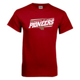 Cardinal T Shirt-University of Denver Pioneers Slanted w/ Logo