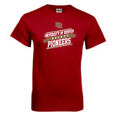 Cardinal T Shirt-Pioneers Hockey Slanted Banner Text