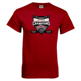 Cardinal T Shirt-2017 Mens NCAA Hockey National Champions