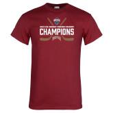 Cardinal T Shirt-NCHC Ice Hockey Champions