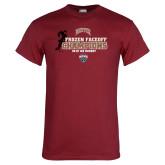 Cardinal T Shirt-NCHC 2018 Ice Hockey Champions