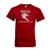 Cardinal T Shirt-Denver Lacrosse Helmet