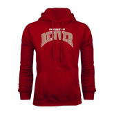 Cardinal Fleece Hood-Arched University of Denver