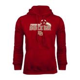 Cardinal Fleece Hood-Soccer Swoosh