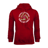 Cardinal Fleece Hood-Volleyball Stars Design