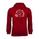 Cardinal Fleece Hood-Denver Gymnastics Circle Design