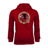 Cardinal Fleece Hood-Skier Jumping Ski Design