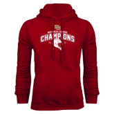Cardinal Fleece Hood-Mens NCAA Lacrosse Champs