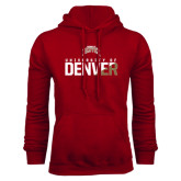 Cardinal Fleece Hood-Stacked University of Denver - Two Tone
