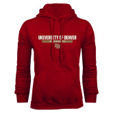 Cardinal Fleece Hood-University of Denver Pioneers Bar Stacked