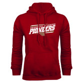 Cardinal Fleece Hood-University of Denver Pioneers Slanted w/ Logo