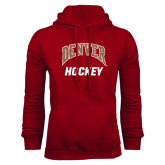 Cardinal Fleece Hood-Arched Denver Hockey