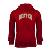 Cardinal Fleece Hood-Arched U of Denver 2 Color Version
