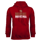 Cardinal Fleece Hood-Basketball Repeating