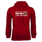 Cardinal Fleece Hoodie-2017 NCAA Division I Mens Hockey Champions
