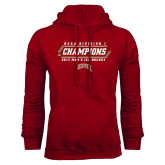 Cardinal Fleece Hood-2017 NCAA Division I Mens Hockey Champions