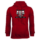 Cardinal Fleece Hoodie-2017 Mens NCAA Hockey National Champions
