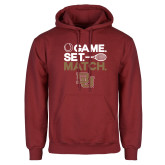 Cardinal Fleece Hoodie-Game Set Match