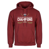 Cardinal Fleece Hoodie-NCHC Ice Hockey Champions