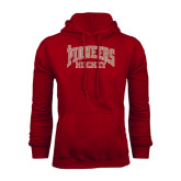 Cardinal Fleece Hood-JR Pioneers Hockey