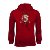 Cardinal Fleece Hood-Denver Pioneers Hockey Emblem w/Sticks