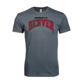 Next Level SoftStyle Charcoal T Shirt-Arched University of Denver