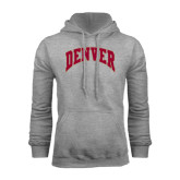 Grey Fleece Hood-Arched Denver 2 Color Version