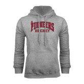 Grey Fleece Hood-JR Pioneers Hockey