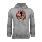 Grey Fleece Hood-Skier Jumping Ski Design