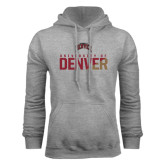 Grey Fleece Hood-Stacked University of Denver - Two Tone