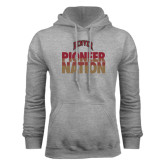 Grey Fleece Hood-Pioneer Nation