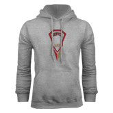 Grey Fleece Hood-Denver LAX Geometric Stick