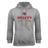 Grey Fleece Hood-University of Denver Hockey Crossed Sticks