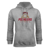 Grey Fleece Hood-Pioneers Soccer Half Ball