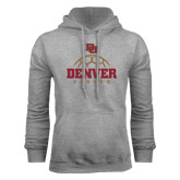 Grey Fleece Hood-Denver Soccer Half Ball