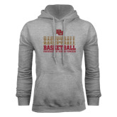 Grey Fleece Hood-Basketball Repeating