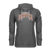 Adidas Climawarm Charcoal Team Issue Hoodie-Arched University of Denver