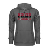 Adidas Climawarm Charcoal Team Issue Hoodie-Stacked University of Denver - Two Tone